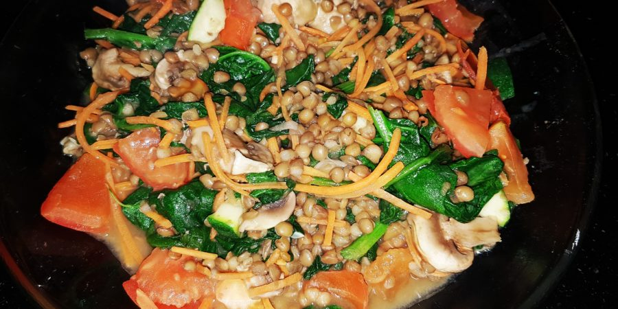 Spinach and lentils a real power combination